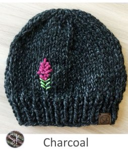 Fireweed Chunky Hats in Charcoal