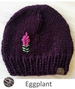 Fireweed Chunky Hats in Eggplant